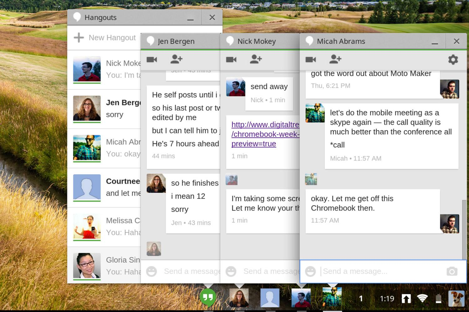 What's wrong with google's new hangouts app? The catt suite.