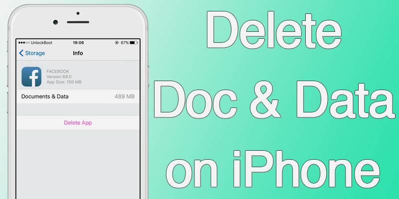 Best two ways to delete documents and data on iphone for example if you have facebook app installed it will save your login details on the device memory if you have saved any bookmarks posts links ccuart Image collections