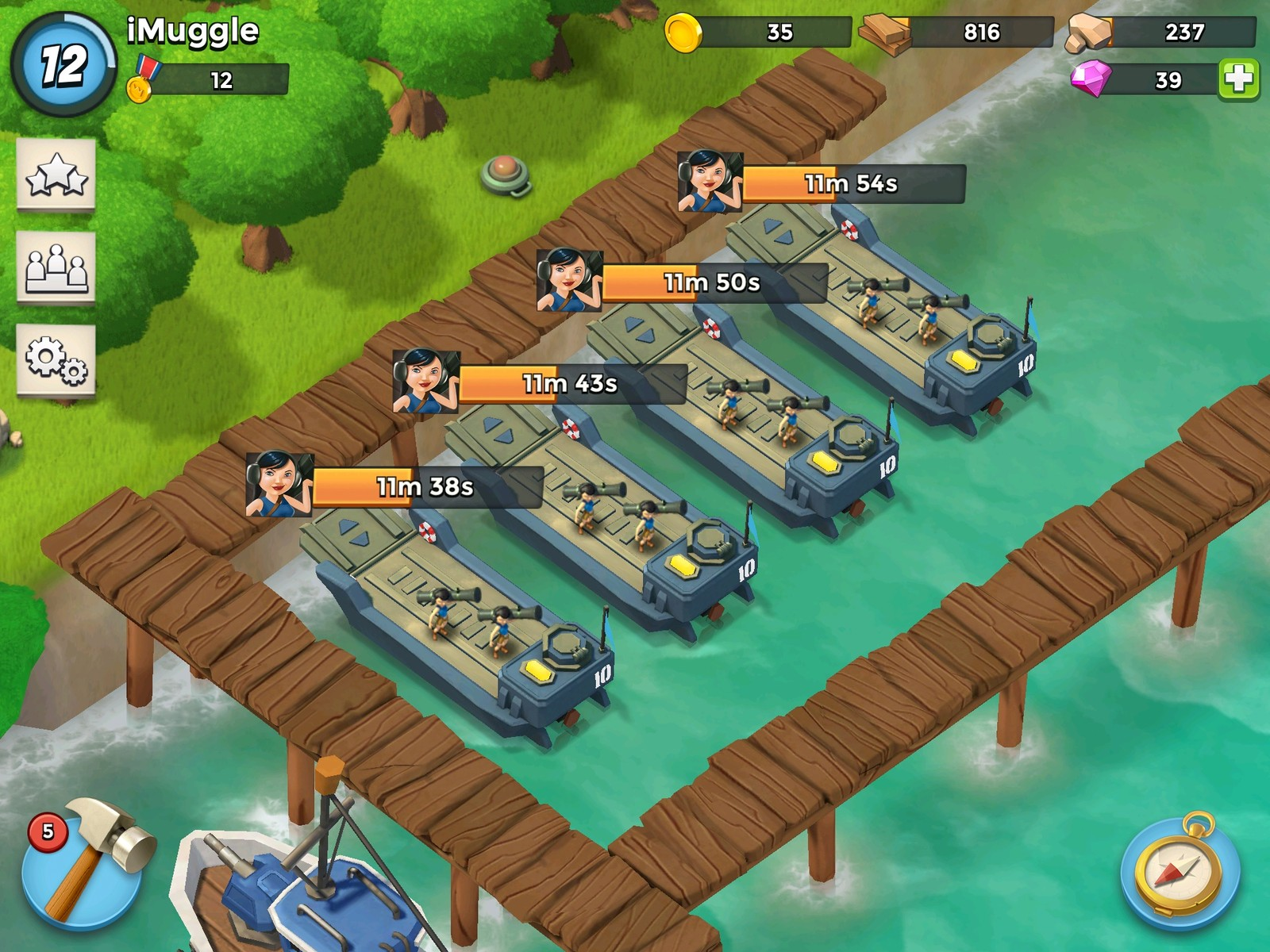 Boom Beach mod apk et cheats android, pc et ios